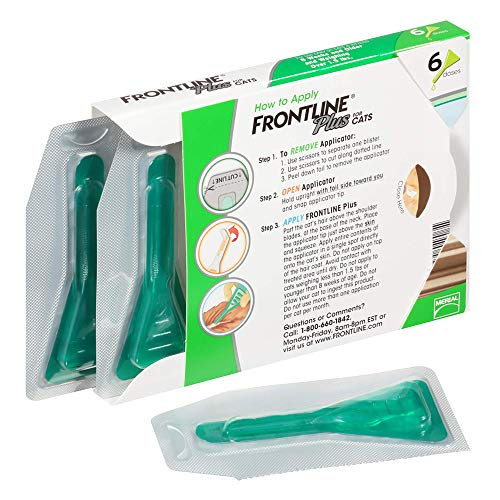 FRONTLINE Plus Flea and Tick Treatment for Cats (6 Doses)