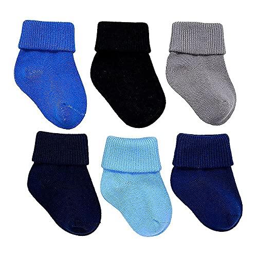 Calzini per neonato, 0-6 mesi, per bambino | Confezione da 6 pezzi, in cotone, privi di sostanze nocive OEKO-TEX