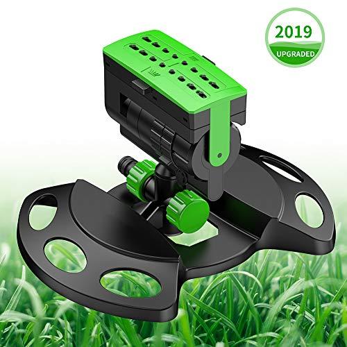 Garten Sprinkler, vier Anpassungen Rasensprenger, Automatischer Garten Wasser Stylischer System Wassersprenger mit One Touch Bedienung & Durchflusskontrolle für große Bereiche