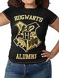 HARRY POTTER Camiseta para Mujer Hogwarts Multicolor Large
