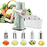 Rotary Graters 5 in 1 Cheese Grater-VEKAYA...