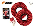 ISSE Snow Socks Traction Adjustable Car Tire Cover Socks Tire Chains Alternative Anti Slip Winter Traction Aid Snow Sock, Fit for Most Car/SUV/Truck, 2 Covers per Pack (72)