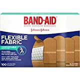 Band-Aid Adhesive Bandages, Flexible Fabric, All One Size 1' X 3' , 100 Count (Pack of 2)