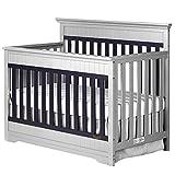 Dream On Me Chesapeake 5-in-1 Convertible Crib, Platinum & Navy