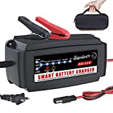 LST 12V 5A Automatic Battery Charger Maintainer Smart Deep Cycle Battery Trickle Charger for Automotive Car Boat...