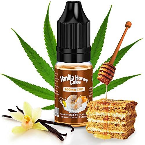 CBD E-liquido Vape 200mg con Terpenos Naturales de KDM Liquids® Sabor de Vanilla Honey Cake 10ml Vaper Líquido Cannabidiol para para Cigarrillo Electrónico Vepeador sin Nicotina & THC