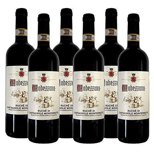 Rabezzana - Ruch di Castagnole Monferrato DOCG - 6 Bottiglie da 75 cl - Vino Rosso dal Carattere Forte e Deciso - Produzione Limitata - Piemonte (6)