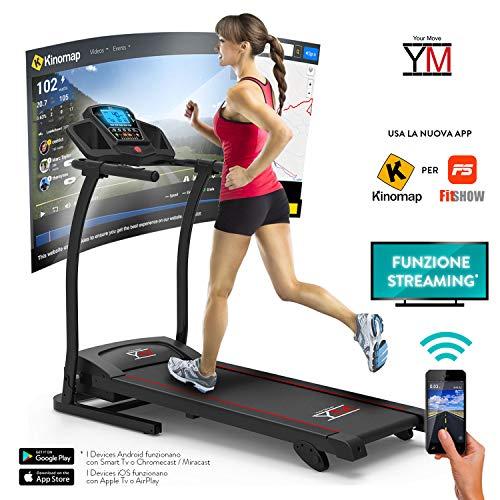 YM Tapis ROULANT Elettrico Pieghevole SENSORE Cardiaco Cardio Lettore MP3 Altoparlanti 1500 W (3,5...