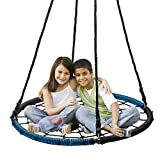 Balançoire ronde nid d'oiseau pour enfants