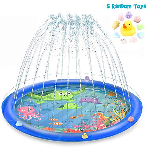 Vmini Sprinkler for Kids, Splash Pad, and Wading Pool for Learning  Childrens Sprinkler Pool, 68 Inflatable Water Toys Outdoor Swimming Pool for Babies and Toddlers