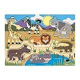 Melissa & Doug - 19054 - Puzzle En Bois À Boutons - Safari