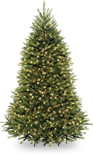 National Tree Company Pre-lit Artificial Christmas Tree | Includes Pre-strung White Lights and Stand | Dunhill Fir - 6.5 ft