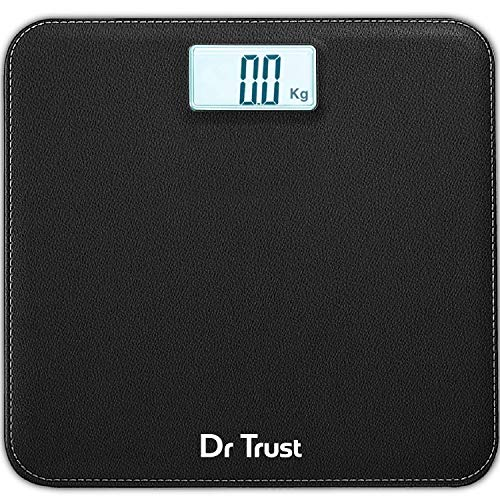 Dr Trust (USA) Digital Smart Electronic Rechargeable Bluetooth Fitness Body Composition Monitor Fat Analyzer 2.0 Weight Machine and Weighing Scale model-509 (Black)