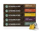 Starbucks By Nespresso Best Seller Variety Pack, 50 Count (Pack of 20)