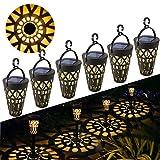 Lampe Solaire Jardin GolWof 6 Pièces Lumière Solaire Extérieure Étanche Éclairage Solaire Extérieur LED Lumière de Chemin LumiÈRe Décorative Jardin pour Allée Chemin Terrasse Pelouse Paysage Fête Noël
