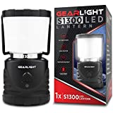 GearLight LED Camping Lantern S1300 - Up to 72 Hours Battery Powered Light - Best Outdoor, Camp, Tent, Hurricane, and Emergency Lanterns