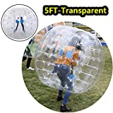 Oanon Inflatable Bumper Ball 1.5M 5FT Diameter Bubble Soccer Ball Blow Up Toy, Inflatable Bumper Bubble Balls for Childs,Teens,Adults (White 1.5M)