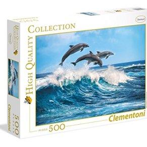 Clementoni- Puzzle 500 Piezas Delfines (35055.1)