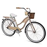 Huffy 26' Panama Jack Beach Cruiser Bike, Champagne Gold