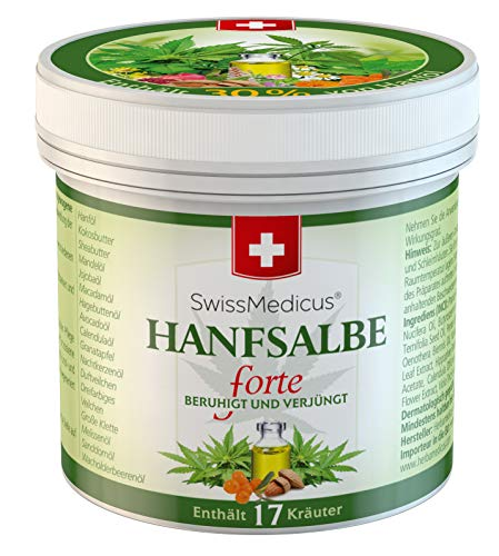 SwissMedicus - ungüento de cáñamo forte - gel activo de cáñamo al 30% - adecuado para pieles problemáticas - para el acné - eczema y psoriasis - crema de cáñamo cosmética natural - 100% - 125 ml