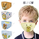 Washable Reusable Kids Face Mask, Cute Funny Designer Breathable Cloth Cotton Madks Facemask...