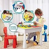 Kublo - Set di tavolo da gioco e 2 sedie per bambini, multifunzione 5 in 1