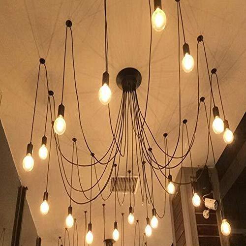 Zoternen Lampade da soffitto Vintage 10 Bracci per Lampadina E27 a Forma di Ragno di luci in Ferro...