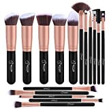 Bebestope 16 pcs synthétique Pinceaux de maquillage professionnels...