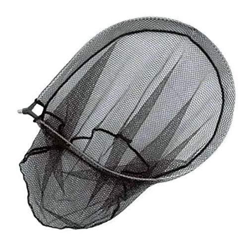 Lineaeffe Testa di Guadino da Pesca Testa Guadino con Rete Nera 45 x 55 45 cm per Mare Fiume Trota Lago Filettatura Universale