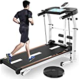 cobcob Running Machine, Folding Treadmill Easy Assembly Ultra-Thin Portable Non-Motorized Running and Walking Treadmill for Home Gym Home Workouts, Jogging, Walking Exercise (Multicolor)