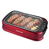 Indoor Grill Power Electric Grill, Techwood Indoor Smokeless BBQ Grill with Turbo Smoke Extractor...