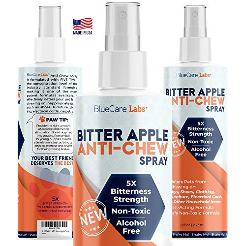 Bitter Apple Spray for Dogs to Stop Chewing Household Items and Paws Pet Corrector Spray for Dogs Puppies Powerful Anti Chew Deterrent Training Aid - Safe Alcohol Free & Non Toxic - No Chew Spray 8oz