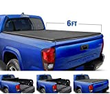 Tyger Auto Black T1 Roll Up Truck Tonneau Cover TG-BC1T9037 Works with 2005-2015 Toyota Tacoma   Fleetside 6' Bed   for Models with or Without The Deckrail System