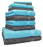 Betz Lot de 10 Serviettes Set de 2 Serviettes, draps de Bain 4 Serviettes de Toilette...