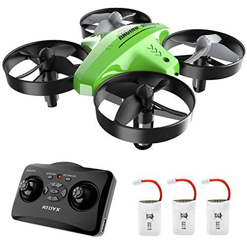 ATOYX Mini Drone per Bambini 66C3 velocit 3D Flip Protezioni a 360 Miglior Regalo(Verde)