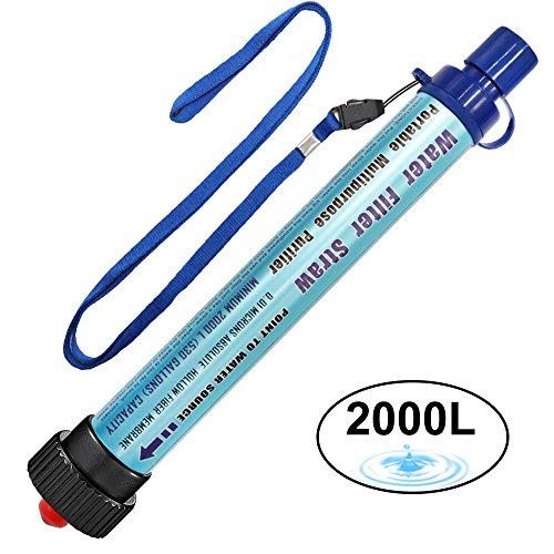 DeFe Filtre Eau Personnel 2000L Système de Filtration d'Eau Élimine 99,9%...