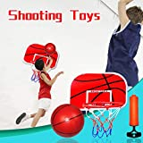 XBKPLO Trampoline Basketball Set/Universal Basketball Hoop/13' x 10' Mini Basketball Hoop Wall Mount Indoor/Over The Door Mini Basketball Hoop Kits for Adults and Kids/with Pump and Rubber Ball