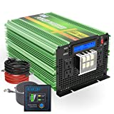 EDECOA 24V Pure Sine Wave Power Inverter 3500W Upgraded Model DC 24V to AC 110V 120V 4 AC Outlets and 1 Hardwire Terminal with LCD Display and Remote Controller