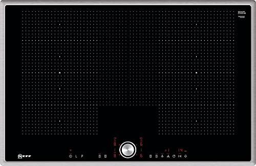 NEFF T68BT6QN2 - Piano cottura a induzione N70 / 80 cm/piano cottura autoarca/TwistPad/FlexInduzione/PowerMove/PowerTransfer/Home Connect/Vetro-ceramica/telaio in acciaio INOX
