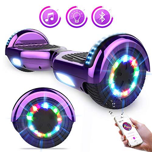 """Hoverboards Self Balance Scooter 6,5 \""""Elektroroller mit super coolen LED-Leuchten und Bluetooth-Lautsprecher - Das beste Geschenk für Kinder"""