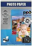 PPD Inkjet 210 g/m2 Fotopapier Glänzend - sofort trocken, wischfest, wasserfest - Fotokartenformat 10x15cm x 100 Stück PPD048-100