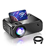 Bomaker WiFi Mini Projector, Outdoor Movie Projector Native 1280x720P and 200 Inch Picture,...