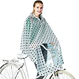 LYX@ Adult Bicycle Battery car Printing Poncho Portable Outdoor Cloak Poncho Waterproof Breathable (Color : A, Size : One Size)