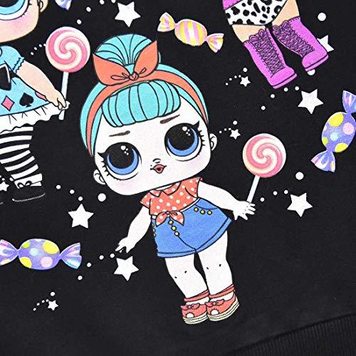 Image 4 - Sweat à capuche respirant pour fille Motif poupées arc-en-ciel - Noir - 3 ans