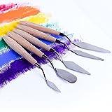 Fuumuui 5 pcs Peinture Couteau Ensemble Palette Couteau Peinture Outils...