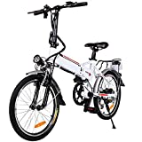 20' Folding Electric Bike with Removable Large Capacity Lithium-Ion Battery (36V 250W), Electric...