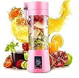 TIMESOON Portable Electric USB Juice Maker Juicer Bottle Blender Grinder Mixer,4 Blades Rechargeable Bottle with (Multi color)