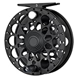 Piscifun Crest Fully Sealed Drag Large Arbor Fly Fishing Reel Saltwater CNC-machined Aluminum Alloy Fly Reel 5/6 Black