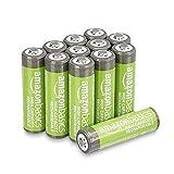 Amazon Basics Piles rechargeables AA haute capacité 2400mAh (Lot de 12)...