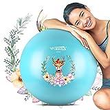 ISUDA - Pelota de Gimnasia antirotura, 75 cm, para Embarazadas, Pilates y balones de Equilibrio para Yoga, Fitness, Fitness o Fisioterapia, con Bomba de Aire, Libro electrónico